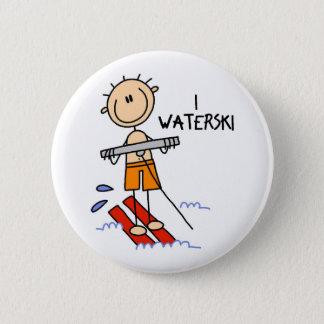 Waterski Gift Pinback Button