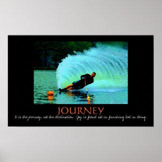 Waterski spray - it's the journey.... - Customized Poster
