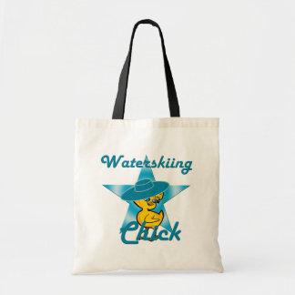 Waterskiing Chick #7 Tote Bag