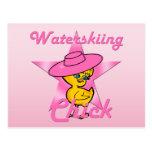 Waterskiing Chick #8 Postcard