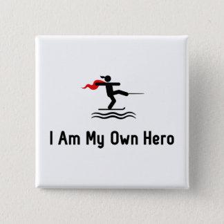 Waterskiing Hero Pinback Button