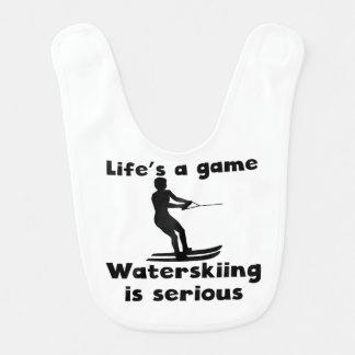 Waterskiing Is Serious Bib