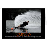 Waterskiing motivation card (B&W tinted)
