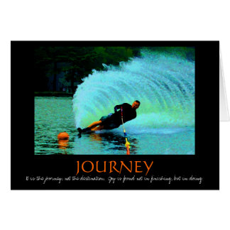 Waterskiing motivational card (colorful)