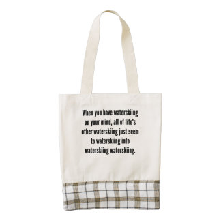 Waterskiing On Your Mind Zazzle HEART Tote Bag