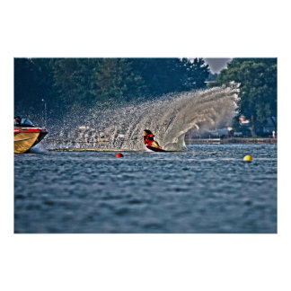 Waterskiing Poster-Slalom Poster