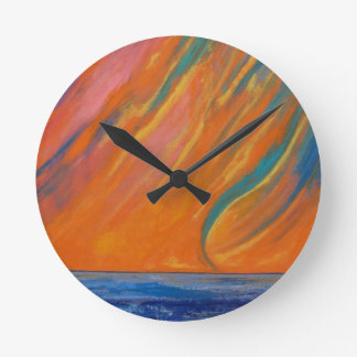 Waterspout Round Clock