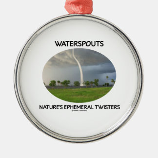 Waterspouts Nature's Ephemeral Twisters Christmas Ornament
