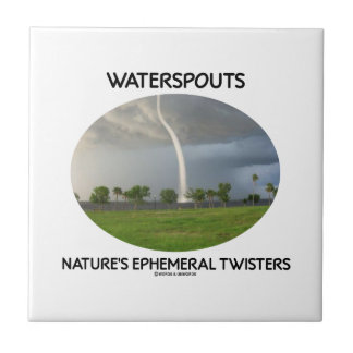 Waterspouts Nature's Ephemeral Twisters Small Square Tile