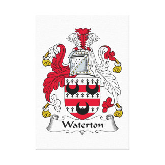 Waterton Family Crest Gallery Wrapped Canvas