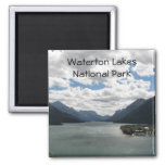 Waterton Lakes 2 Inch Square Magnet