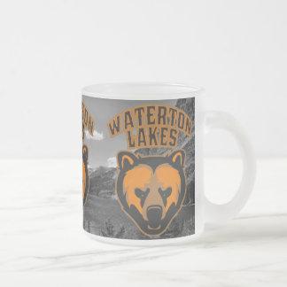 Waterton Lakes Bear Face Logo Frosted Glass Coffee Mug