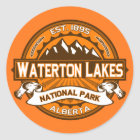 Waterton Lakes Logo Classic Round Sticker