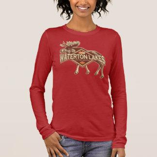 Waterton Lakes Moose Long Sleeve T-Shirt