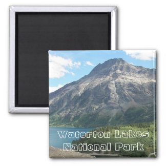 Waterton Lakes National Park Photo 2 Inch Square Magnet