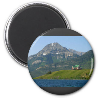 Waterton Lakes National Park Prince Of Wales Hotel 2 Inch Round Magnet