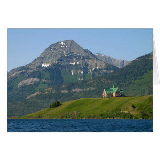Waterton Lakes National Park Prince Of Wales Hotel Greeting Card