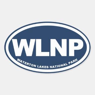 Waterton Lakes Oval Sticker