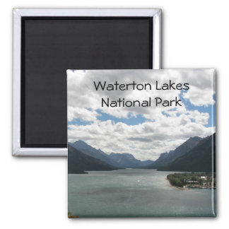 Waterton Lakes Travel Photo 2 Inch Square Magnet