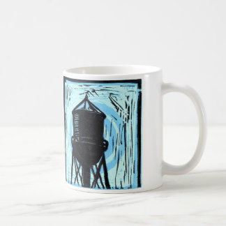 watertower blue mug