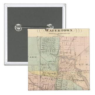 Watertown, Dodge & Jefferson cos Button