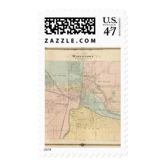 Watertown, Dodge y Jefferson lechuga romana Timbres Postales