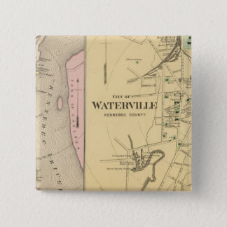 Waterville, Kennebec Co Pinback Button