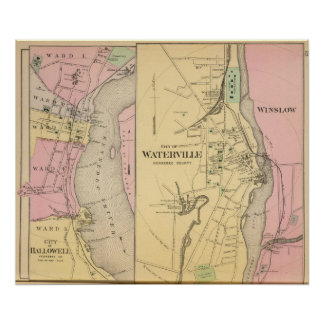 Waterville, Kennebec Co Poster