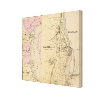 Waterville, Kennebec County Canvas Print