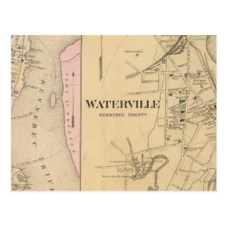 Waterville, Kennebec County Postcard