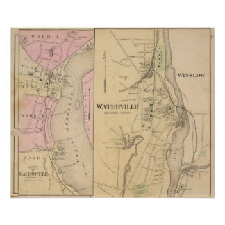 Waterville, Kennebec County Poster