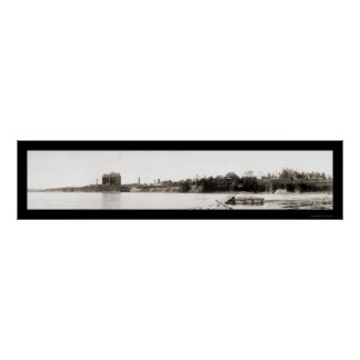 Waterville Maine Photo 1909 Poster