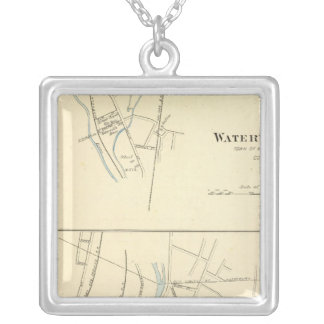 Waterville, S of Waterbury Square Pendant Necklace