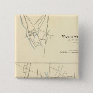 Waterville, S of Waterbury Pinback Button