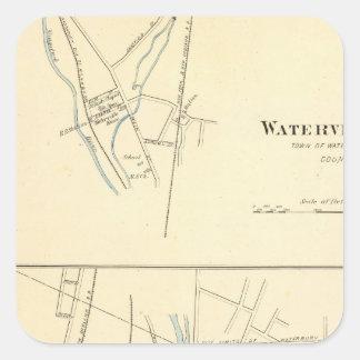 Waterville, S of Waterbury Square Sticker