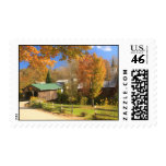 Waterville Vermont Covered Bridge and Village Postage Stamp