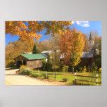 Waterville Vermont Covered Bridge and Village Print