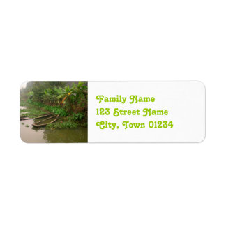 Waterway in Vietnam Custom Return Address Labels