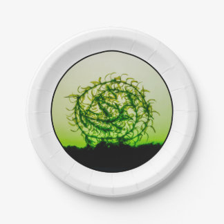 Waterweed circle paper plate