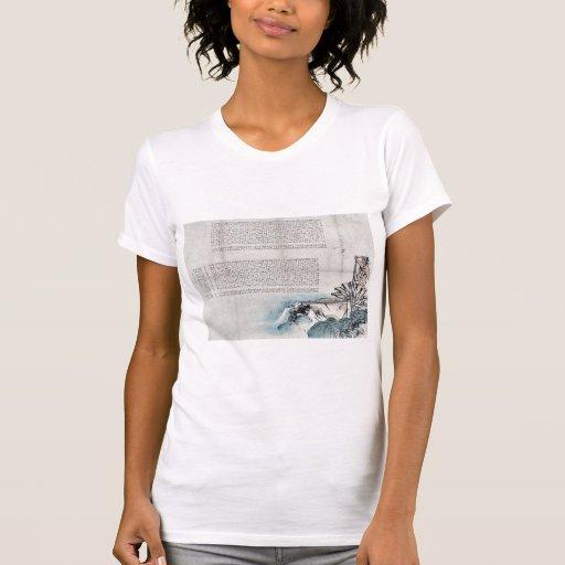 Waterwheel por Taki, Katei Ukiyoe Camisetas