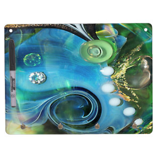 Waterworld, macrophotography, sea, more water, dry erase board with keychain holder