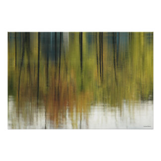 Watery Autumn Abstract Poster