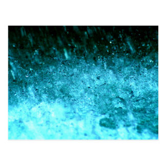 Watery Blue Abstract texture Postcard