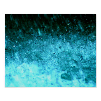 Watery Blue Abstract texture Poster