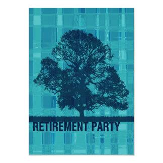Watery Plaid & Tree Retirement Card