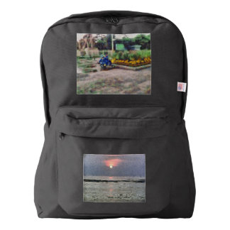 Watery sunset american apparel™ backpack