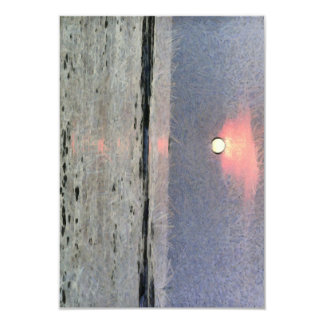 Watery sunset card
