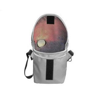 Watery sunset messenger bag