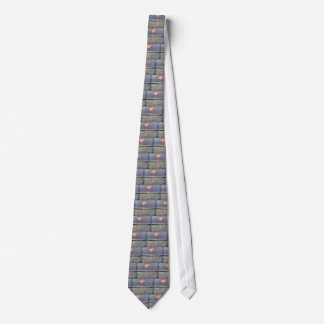 Watery sunset neck tie