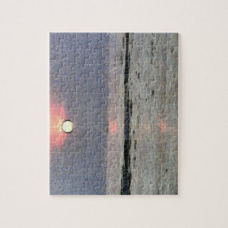 Watery sunset puzzle